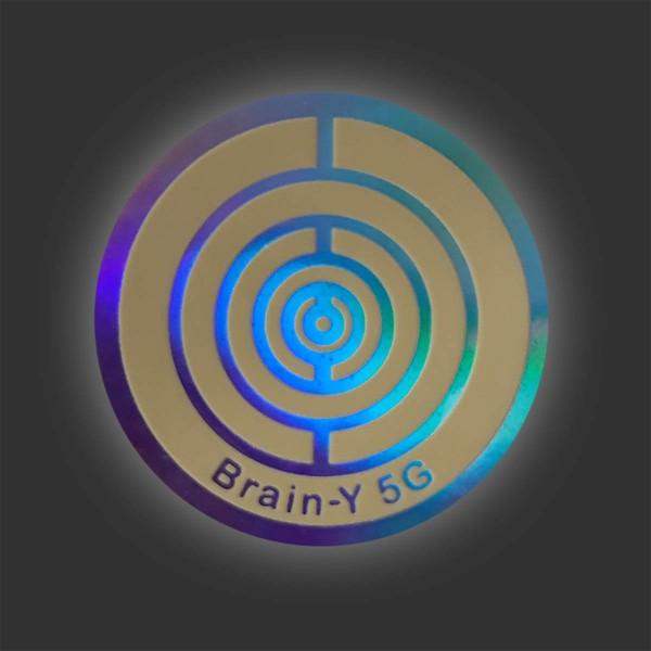 Brain-Y 5G-Folienaufkleber (Handy Chip) zum Aufkleben, Aluminium