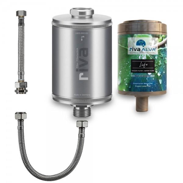 rivaALVA Life Trinkwasserfilter inkl. flexiblem Schlauchanschluss-Set