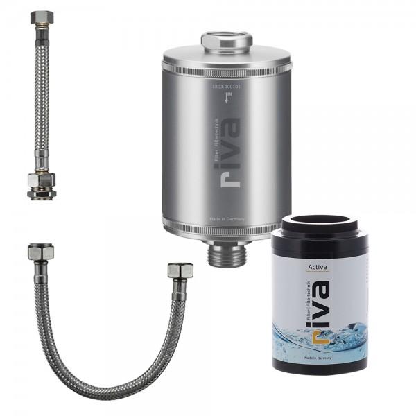 riva Trinkwasserfilter Active inkl. flexiblem Schlauchanschluss-Set